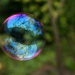Reflektion i såpbubbla