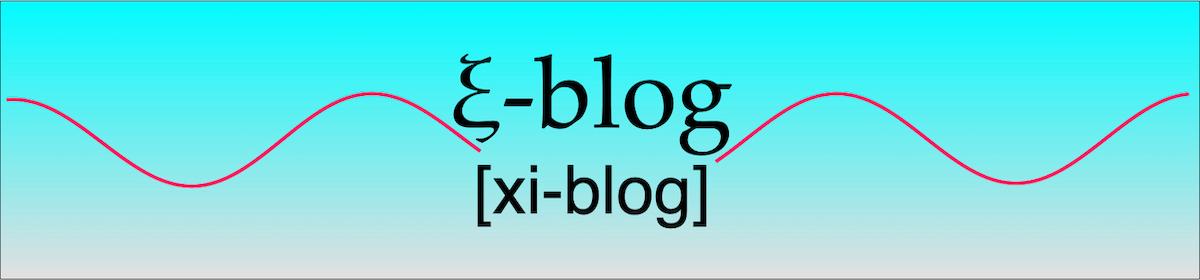 ξ-blog